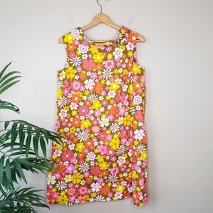 Vintage Sears | Bright Mod Floral Dress